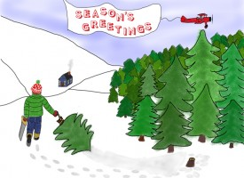 Season's Greetings and my drawings in action!